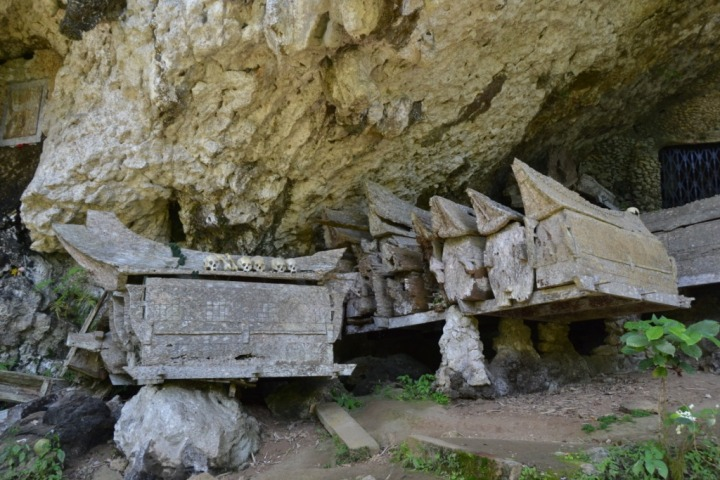 Tombs in a cave, from many many years ago