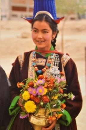 Leh Woman in Traditional Dress