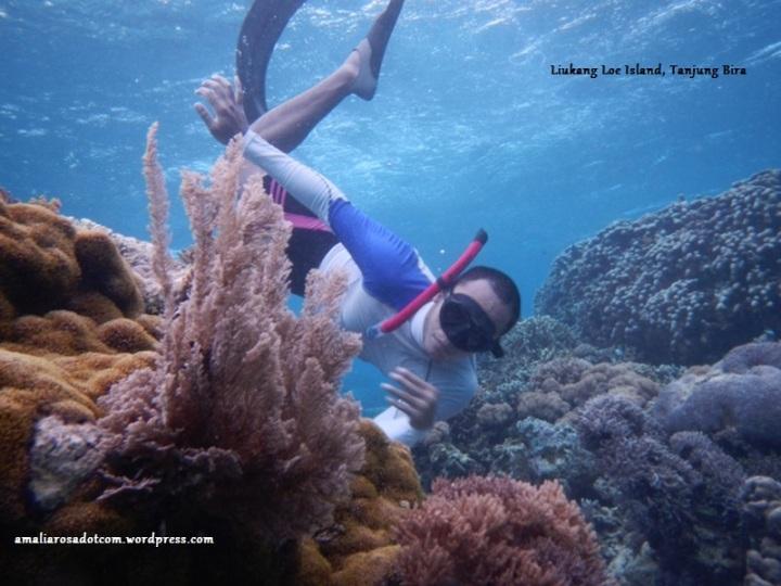 Mas Angki - guru freediving saya. Asli ini posenya cool abis ya! - Pulau Liukang Loe