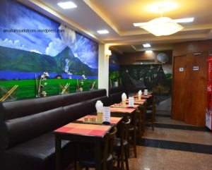Interior dalam restoran