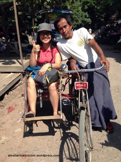 Hla Soe and Myanmar trishaw