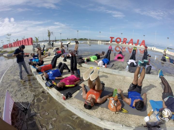 Salah satu kegiatan Sweat Camp Freeletics Makassar