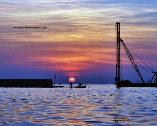 Sunset dari Warung Popsa, Makassar