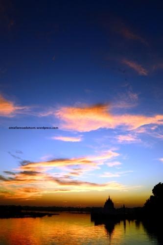 Sunset dari Ubein Bridge, Myanmar