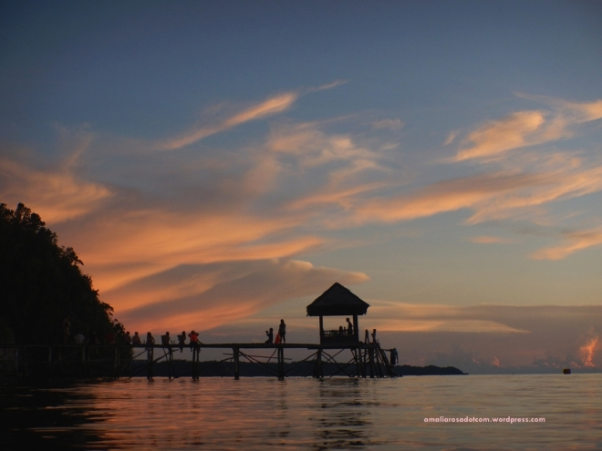 Sunset di Pulau Kadidiri, Kep. Togean- Sulawesi Tengah