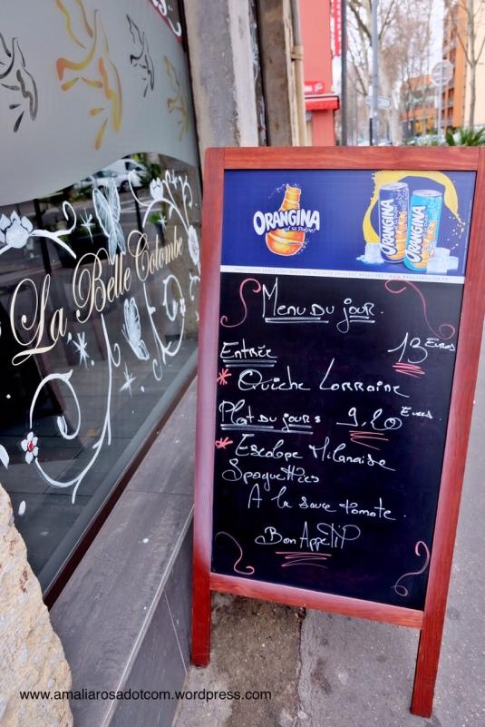 La Belle Colembe, Lyon menyediakan halal French food